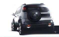 """""""Citroën Novo Aircross 2016 #citroen #novoaircross #sketch #autodesign #deadbrush"""""""