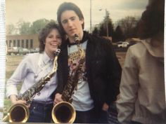 Trent Reznor with classmate from High School band class, 1982 Brian Warner, Trent Reznor, Nine Inch Nails, Band Camp, Grunge Girl, Music Icon, Alternative Girls, My Heart Is Breaking, Rock Bands