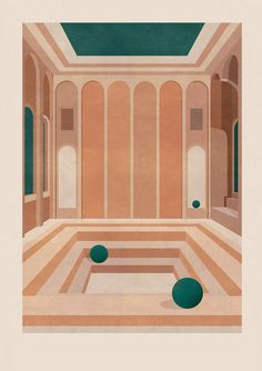 say hi to_ Charlotte Taylor x Ricardo Bofill British illustrator, Charlotte Taylor, translates the work of Spanish Architect, Ricardo Bofill, in a series of four illustrations. Architecture Drawings, Architecture Design, Stairs Architecture, Architecture Visualization, Charlotte Taylor, Ricardo Bofill, Image Deco, Design Typography, Illustrator
