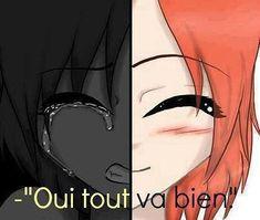 ~ Tous les gens qui sourient ne sont pas forcément heureux, derrière certains sourires se cachent parfois de grandes souffrances. Ils choisissent malgré tout d'offrir au monde le meilleur d'eux-même. ~ #depression #deb #mutilation #cat #anxiété #tristesse #souffrance #mal #manga #anime #citation #proverbe #sourire #heureux #cache #choisir #offrir #monde #meilleur #eux #bien #fille #pleure #sourit #larme