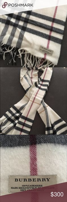 Burberry cashmere scarf This scarf has only been worn a few times. Like new. Burberry Accessories Scarves & Wraps