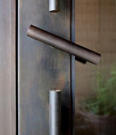 dust db door handle foraged steel
