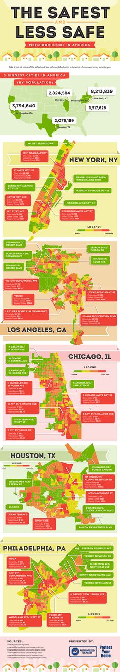 The Safest and Less Safe Neighborhoods In America [Infographic] - Protect Your Home