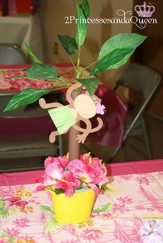 Monkey Luau centerpieces