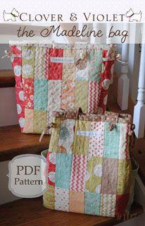 Clover & Violet Madeline Diaper Bag - Downloadable Pattern