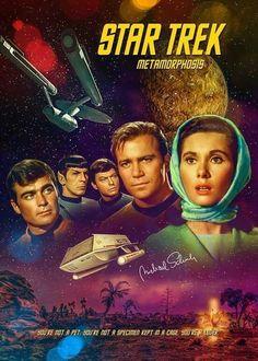 """Star Trek: The Original Series """"Metamorphosis"""" (First Broadcast: November Star Trek Tv Series, Star Trek Books, Star Trek Show, Star Trek Original Series, Star Trek Characters, Star Wars, Science Fiction, Star Trek Wallpaper, Star Trek Posters"""