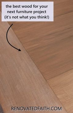 Want to find the best wood for furniture projects that is not only beautiful, and durable, but also low-cost? Here I'll explain the different types of wood for dining tables & heavy-use furniture. Also, I share how to save so much money on your next woodworking project whether you need wood for a farmhouse tabletop or something more contemporary. Whether buying from a furniture store or building it yourself, consider the best wood finish for a dining table before you make a big investment Best Wood For Furniture, Diy Furniture Projects, Repurposed Furniture, Furniture Makeover, Woodworking Projects, Farmhouse Tabletop, Farmhouse Furniture, Rustic Furniture, Painted Furniture