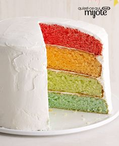 Gâteau arc-en-ciel #recette