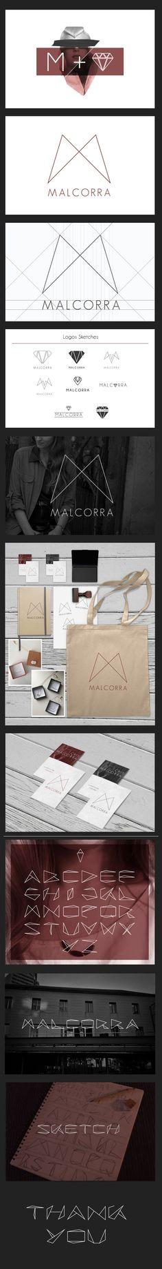 MALCORRA (Branding) by Yonathan Tanu, via Behance