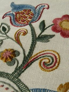 Jacobean Starter Crewel Embroidery Kit by ColeshillCollection