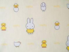 Miffy fabric - so cute for Easter!