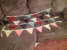 More & more bunting made as Christmas presents.