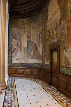 Le Péristyle de la Sorbonne.Paris 5ème