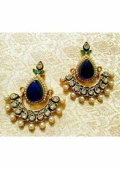 Earrings Forceful Antique Dangler Earrings Indian Jewelry Silver Oxidized Ethnic Bollywood Stylish