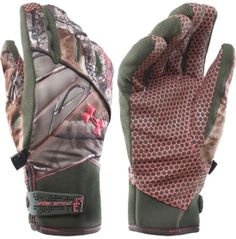under armor camo gloves