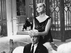 "Madeleine Lebeau and Marcello Mastroianni in ""8½"" [1963]"