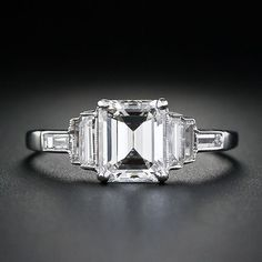art deco emerald cut 1.28 (1.93cttw) diamond ring. a mere $11,000- This is beautiful!