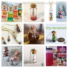 the Antidote Mini Meditation Bottle made with g Bottle Jewelry, Bottle Charms, Bottle Necklace, Mini Bottle, Mini Terrarium, Diy Tumblr, Miniature Bottles, Bottles And Jars, Glass Bottles