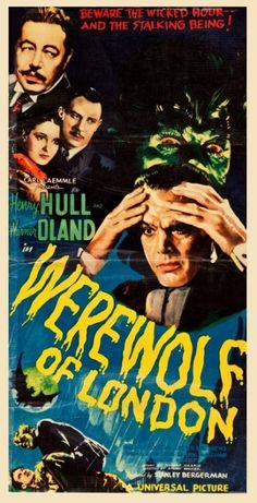 Werewolf of London Window Cards, Universal Pictures, Horror Films, Werewolf, London, Classic, Theater, Movie Posters, Archive