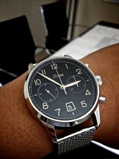 Stowa 1938 Chronograph Black