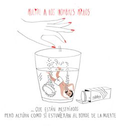 "Muerte a los hombres malos, (""Death to the bad men"") is a graphic humor project, created by Laura Torne (writer) and Caroline Selmes (illustrator), It has been published by Lunwerg."