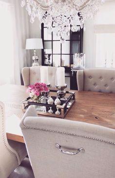 apartment dining room glam decor - Internal Home Design Cute Dorm Rooms, Cool Rooms, Farmhouse Side Table, Rustic Farmhouse, Home Design, Design Ideas, Living Room Designs, Living Spaces, Urban Apartment
