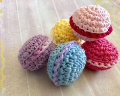Crochet items, handcrafted roses and other craftiness by ShesCraftyByCristy Macaroon Cookies, Macaroons, Handmade Clothes, Handmade Gifts, Handmade Items, Crochet Bee, Roommate Gifts, Coffee Gifts, Toddler Gifts