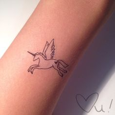 Unicorn Temporary Tattoo