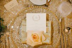 Terranea Resort Wedding   Peach Flowers   Josh Elliott Photography   Sugar Branch Events   Luxury Reception   Gold Table