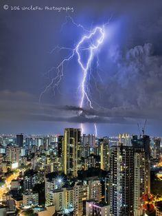 Lightning struck