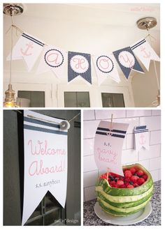 Sailor Girl Nautical Party :: Watermelon Boat
