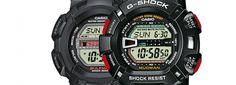 Aquí están los G-Shock más completos de todo, esos que te tienes que llevar sí o sí contigo si te vas ha hacer una de esas travesías que marcarán tu vida! Dos modelos, el G-9000-1VER con motivos rojos en los botones laterales y resistente al barro, MUD Resist y conocido como MUDMAN y el G-9100-1ER con gráfico de mareas, fases lunares y resistente al óxido, RUST Resist y también llamado GULFMAN.