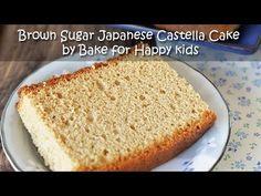 Bake for Happy Kids: Brown Sugar Japanese Castella Cake / Kasutera カステラ - Egg Separation Method with Condensed Milk