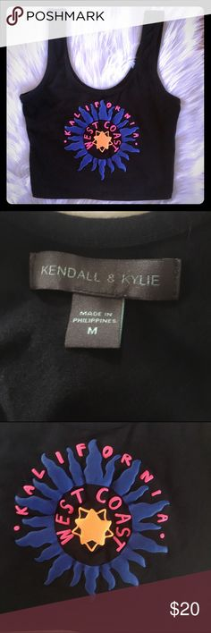 Like new! Kendall & Kylie tank crop top Nice cotton blend material that has stretch to it.  No signs of wear. Kalifornia by Kendall & Kylie Kendall & Kylie Tops Crop Tops
