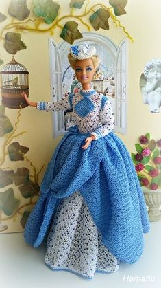 Irresistible Crochet a Doll Ideas. Radiant Crochet a Doll Ideas. Crochet Doll Dress, Crochet Barbie Clothes, Knitted Dolls, Barbie Gowns, Barbie Dress, Barbie Doll, Barbie Patterns, Doll Clothes Patterns, Barbie Collection