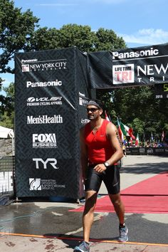 Team DKMS athlete Mihir Patel crossing the finish line. Photo Credit: Denis L. Tanney, Headzup photography