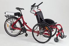 CG Companion wheelchair bike tandem: a bicycle-wheelchair built for two! - But priced at £4,500.00 (ex. VAT)