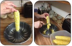 Easy Tip for Getting Corn Off the Cob