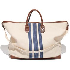 Madewell - The Oversized Tote in Surf Stripe