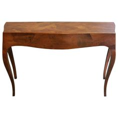 Mid Century Italian Olivewood Console Table | From a unique collection of antique and modern console tables at http://www.1stdibs.com/furniture/tables/console-tables/