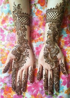 Beautiful hand henna design