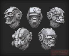 [Puppets War in Cyberpunk vision - Forum - DakkaDakka Warhammer 40k Miniatures, Space Wolves, 3d Prints, Space Marine, Cyberpunk, Puppets, Concept Art, Lion Sculpture, Skull