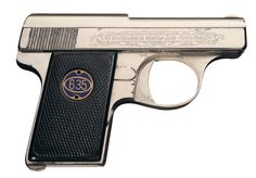 Excellent Factory Engraved Walther Model 9 Semi-Automatic Pocket PistolLoading that magazine is a pain! Get your Magazine speedloader today! http://www.amazon.com/shops/raeind