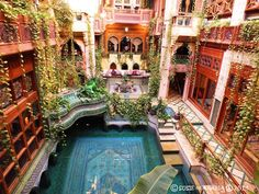 Persian Carpet Pool House with Inner Courtyard