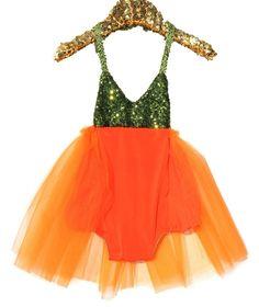 Miss Pumpkin Sparkle Romper Halloween Glam Collection