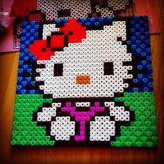 Hello Kitty hama beads by stephyrawr93