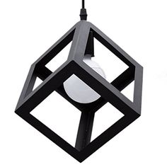 awesome Industrial Metal Loft Pendant Ceiling Light Hanging Lamp Geometric Square Retro