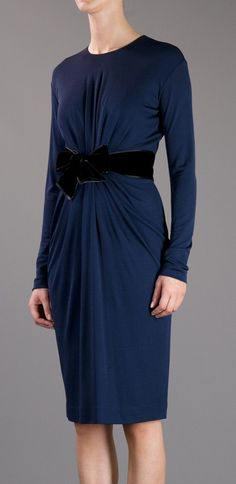Gathered belted dress