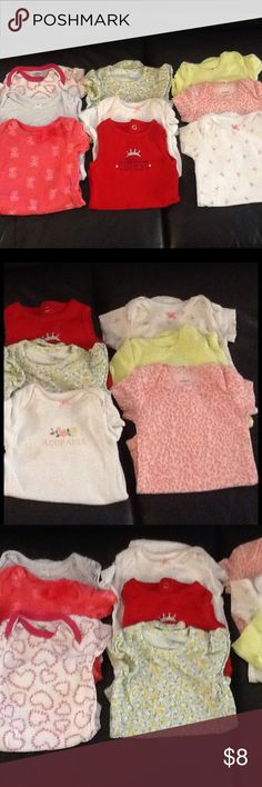 9 size 0-3 months tshirts No stains good condition Shirts & Tops Tees - Short Sleeve