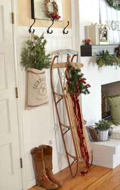 36 Cute Farmhouse Christmas Decorations Ideas